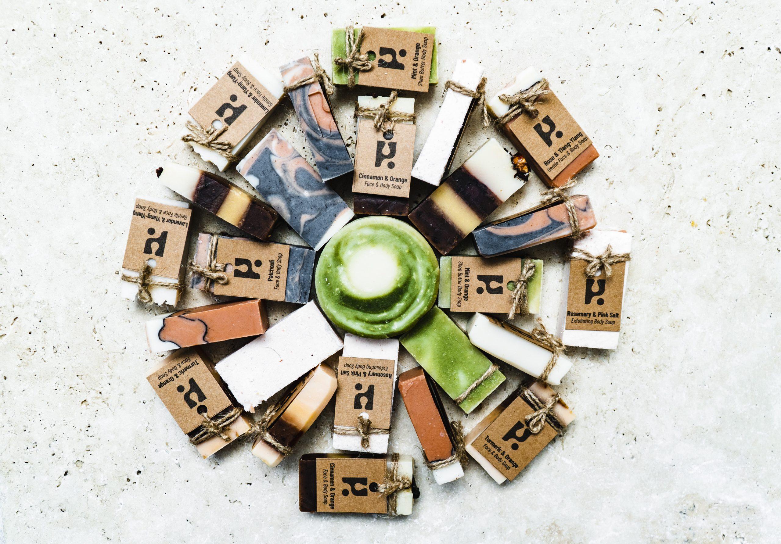 Mini soap mandala